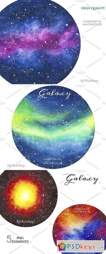 watercolor galaxy space clipart 1975712