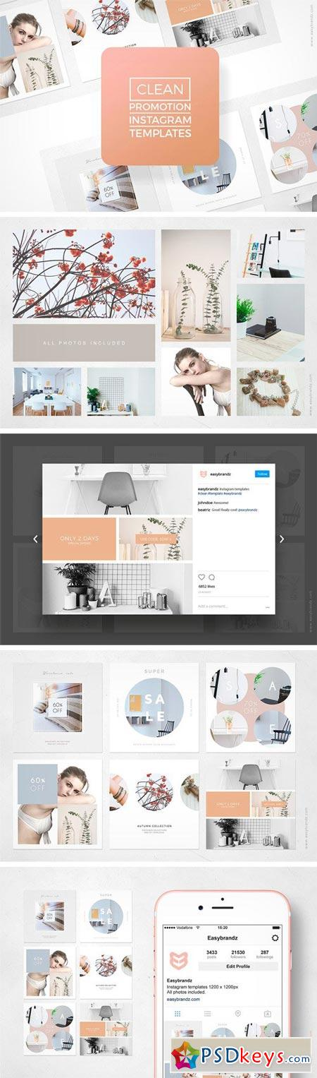 Instagram Promotion Clean Templates 2040430