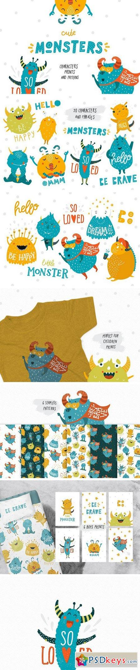 Cute Monsters - Kids collection 1613310