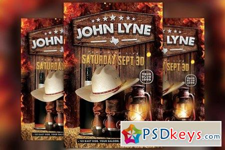 Country Artist Event Flyer Template 1741030 » Free Download