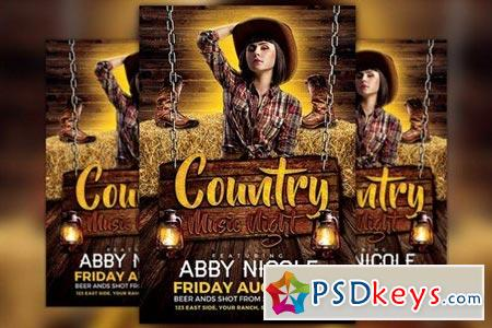 Country Music Night Flyer Template 1741032 » Free Download