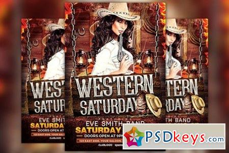 Western Saturday Flyer Template 828783