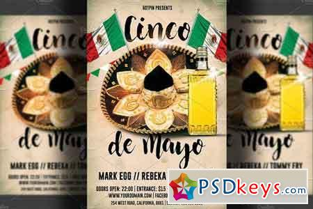 Cinco De Mayo Party Flyer Template 1405537