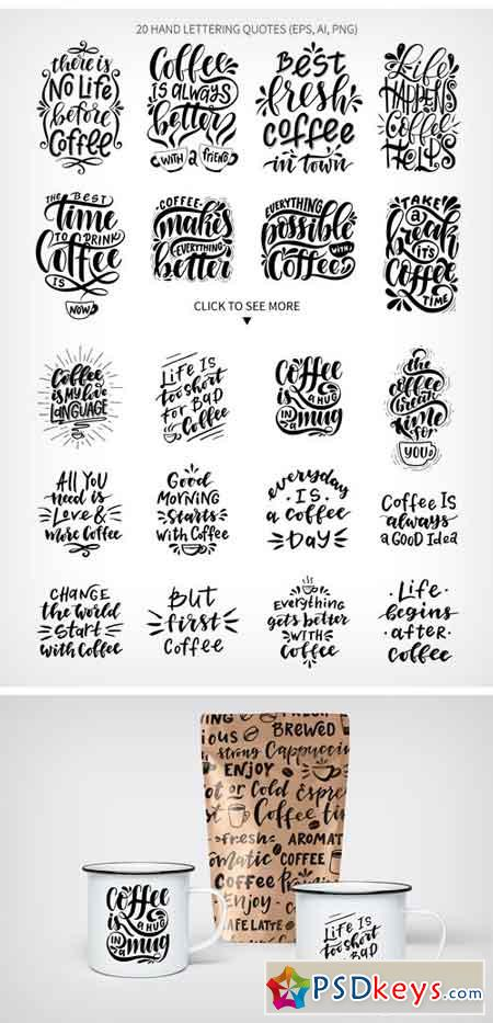 Coffee Lettering Set 2011068