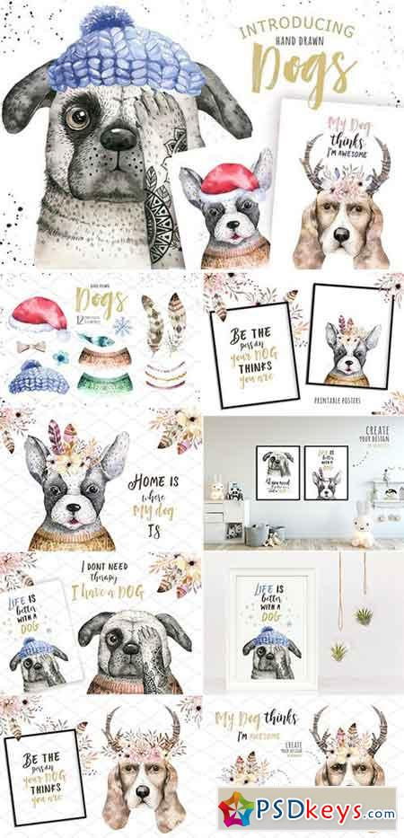 Cute dog collection 1942038