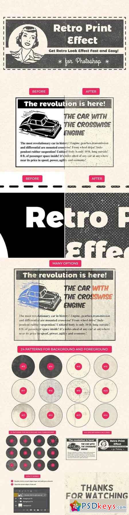 Retro Print Effect 1457843
