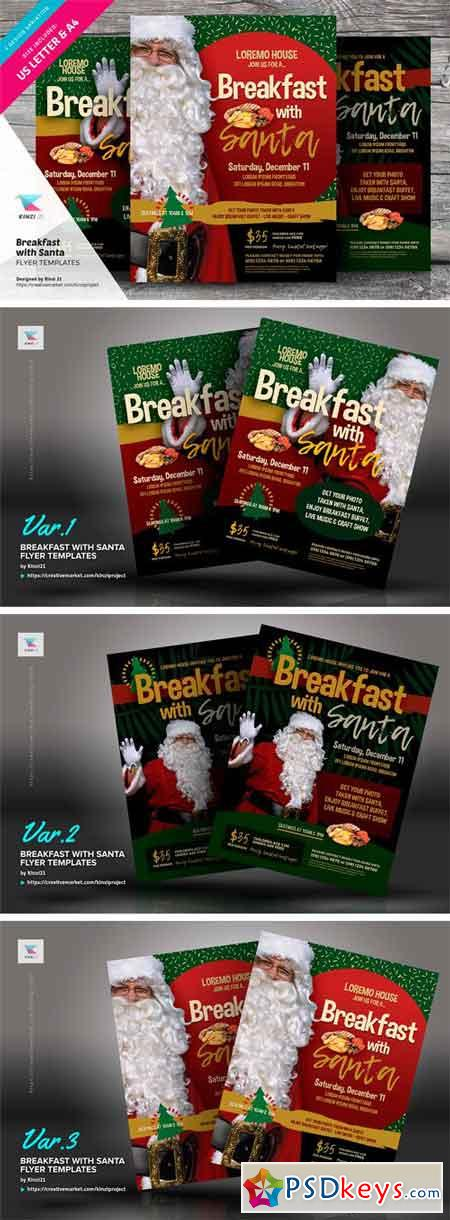 Breakfast With Santa Flyer Templates 2038446