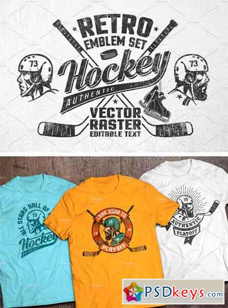 Retro Hockey Logos 2037907