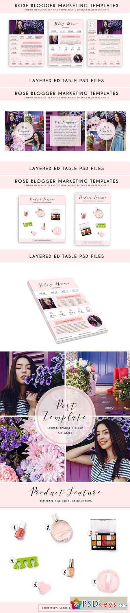 Rose Blogger Marketing Template Pack 1975444