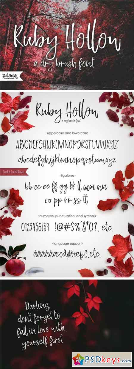 Ruby Hollow, a Dry Brush Font 2036940