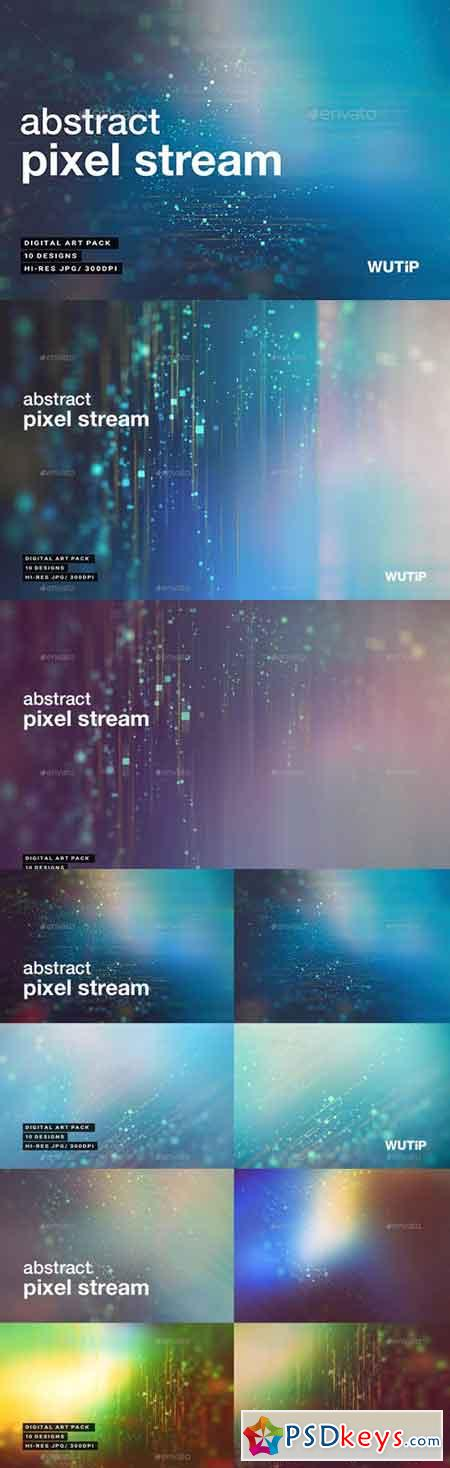 Abstract Pixel Stream Backgrounds 20664162