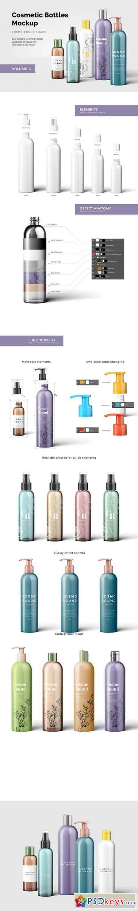 Cosmetic Bottles Mockup Vol.3 1999669