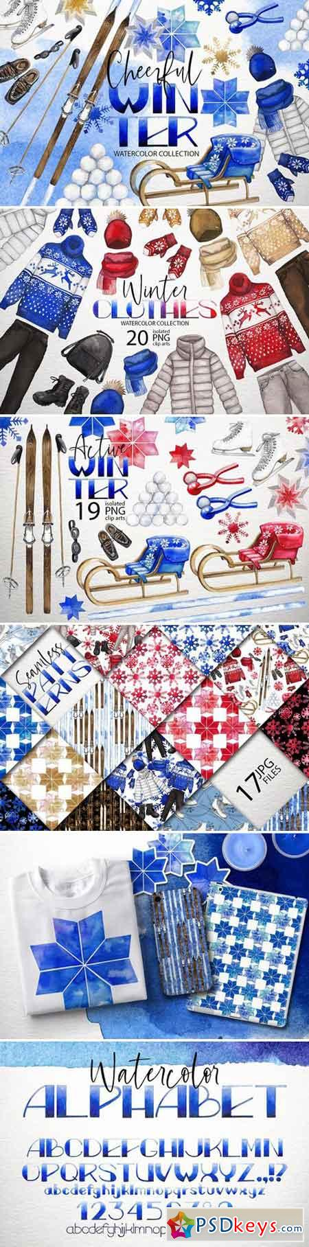 Watercolor winter colletion 2042367