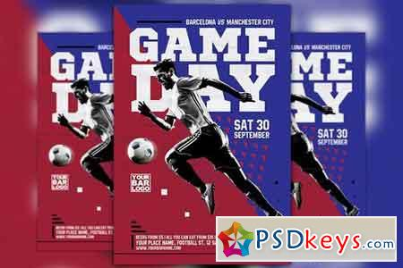 Soccer Game Day Flyer Template 2040501