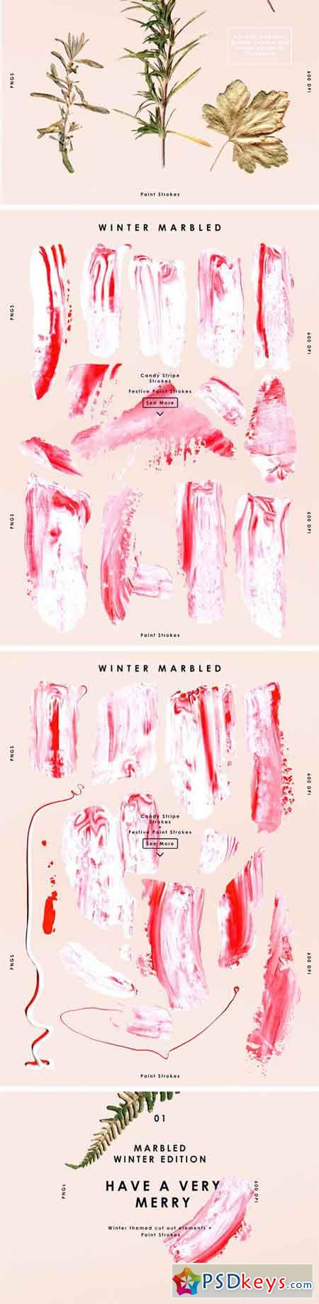 Winter Paint Marbled Set 2040422