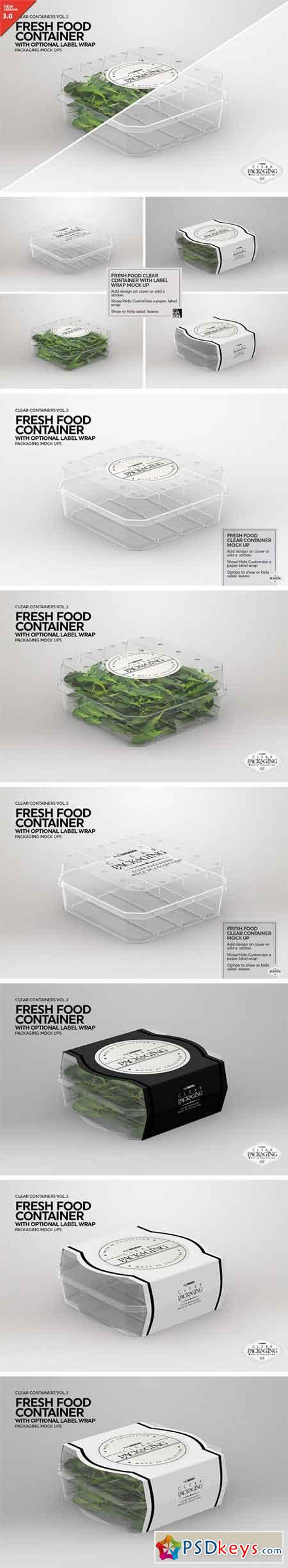 Clear Fresh Food Container MockUp 2022765