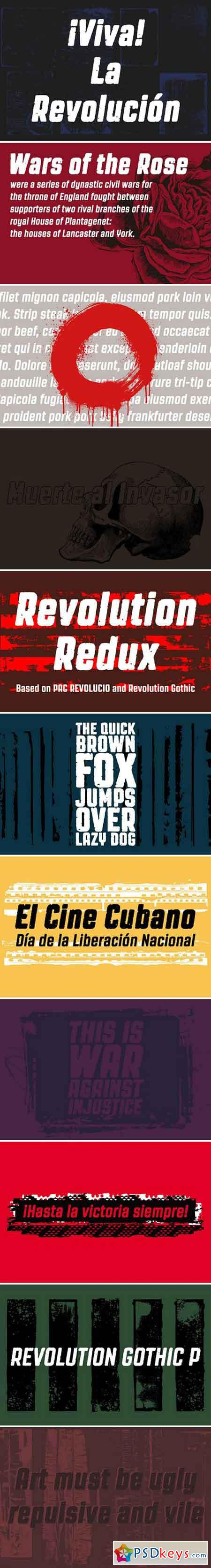 Revolution Gothic P Display Fonts 2058710