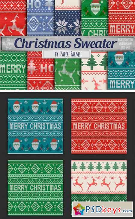 Ugly Sweater Digital Paper 1952899