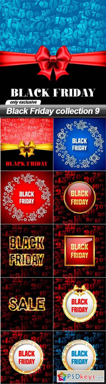 Black Friday collection 9 - 11 EPS