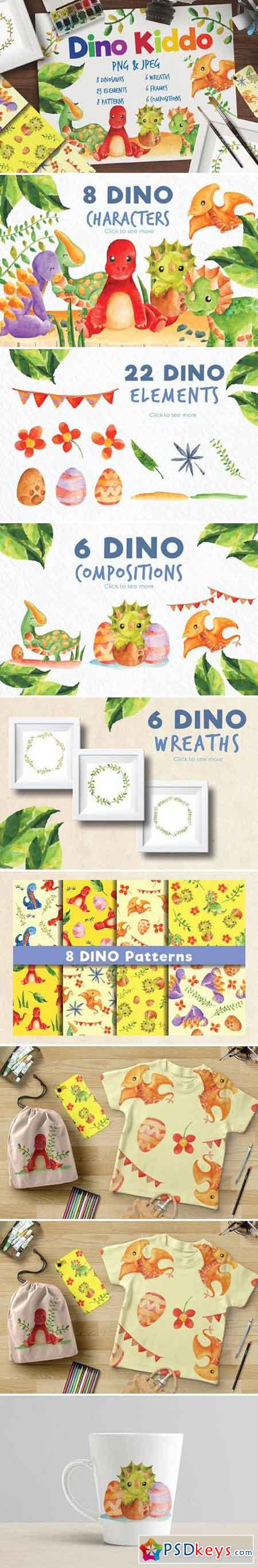 Dino Kiddo Watercolor Set 2058576