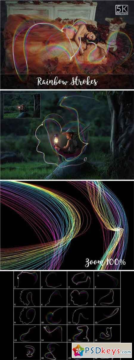 5K Rainbow Strokes Overlays 2057612