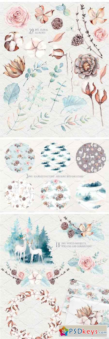 GENTLE WINTER Watercolor Collection 2034307