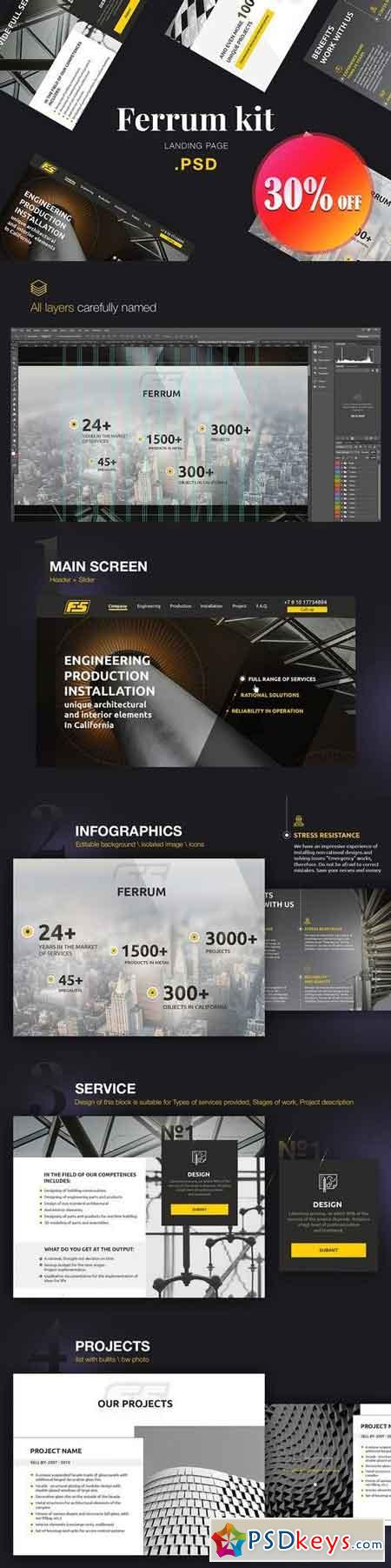 Ferrum Kit for Industry Landing Page 1455196