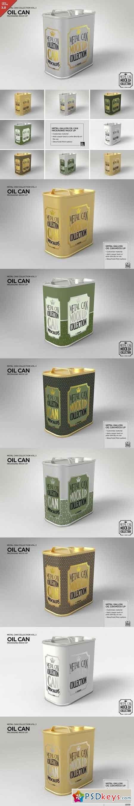 Metal Oil Gallon Can Mock Up 1930744