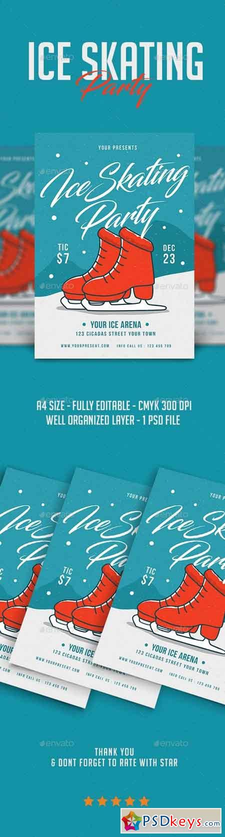 Ice Skating Party Flyer 21087919
