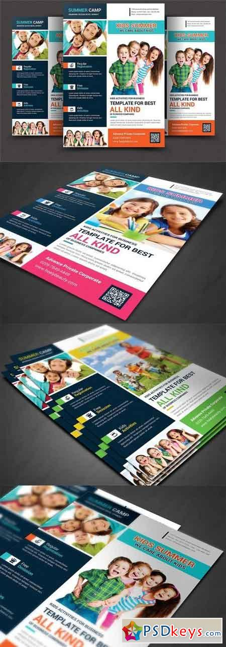 Kids Summer Camp Flyer Templates 1456318 Free Download