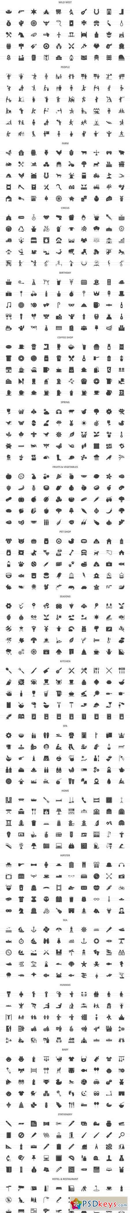 2490 Nature & Lifestyle Glyph Icons 2041199