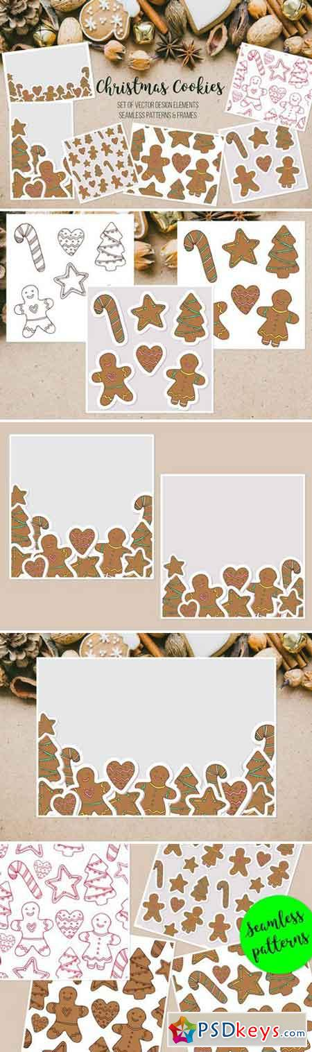 Vector Christmas gingerbread cookies 2088114