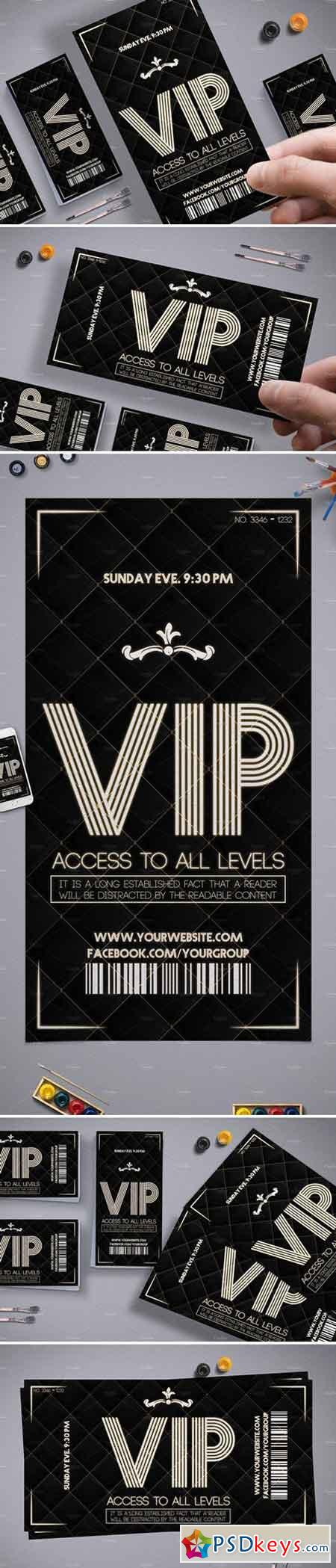 Luxury VIP Pass Card 2072993
