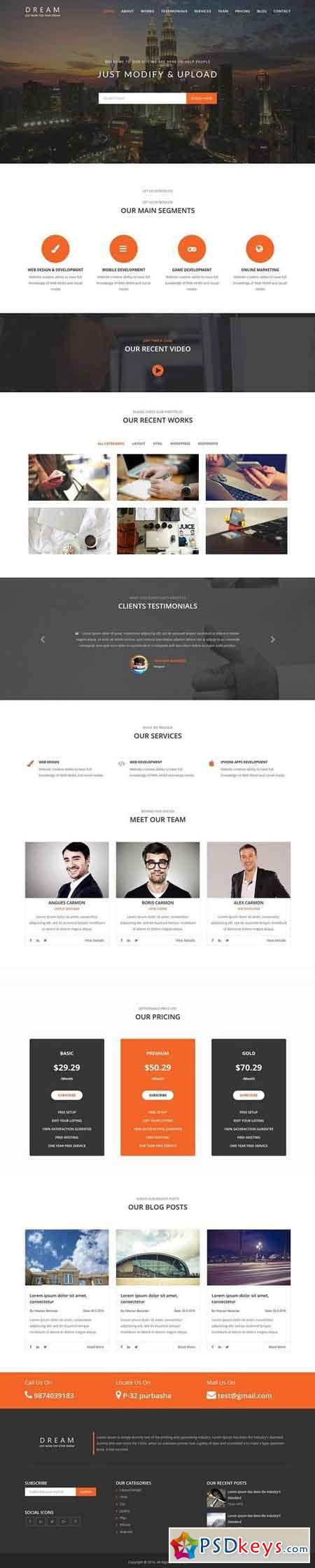 Dream - One page scroll Bootstrap 1458063