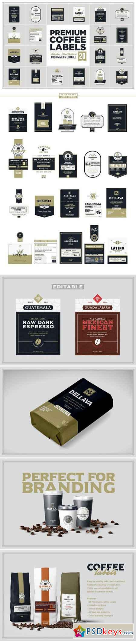 Premium Coffee Labels 2071429