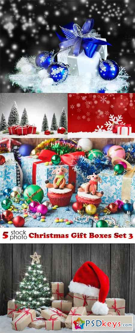 Photos - Christmas Gift Boxes Set 3