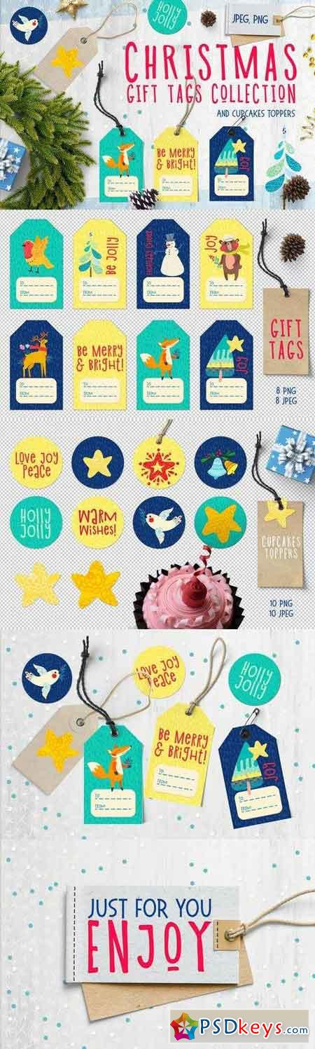 Christmas Gift Tag, cupcakes toppers 919611