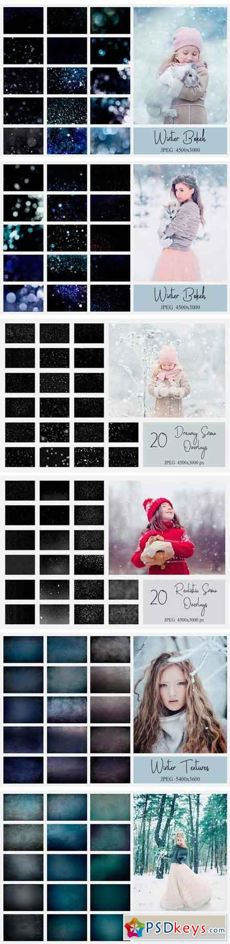 Winter Bundle PS Actions + Overlays 2052253