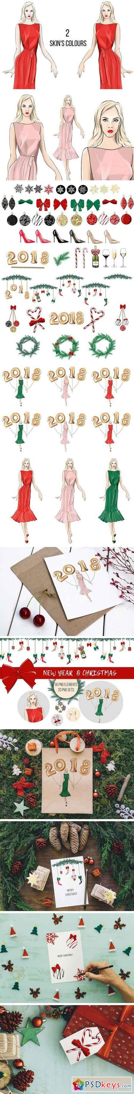 New Year & Christmas Clip Art 2072790