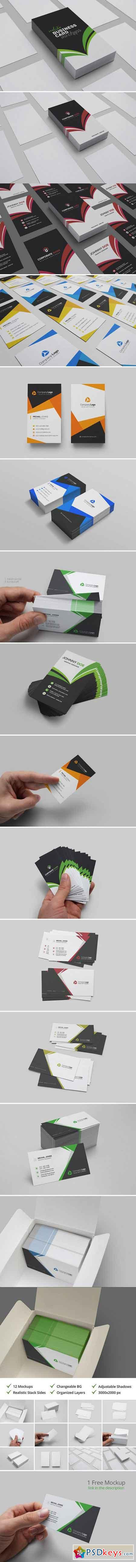 Realistic Business Card Mockups 2072315