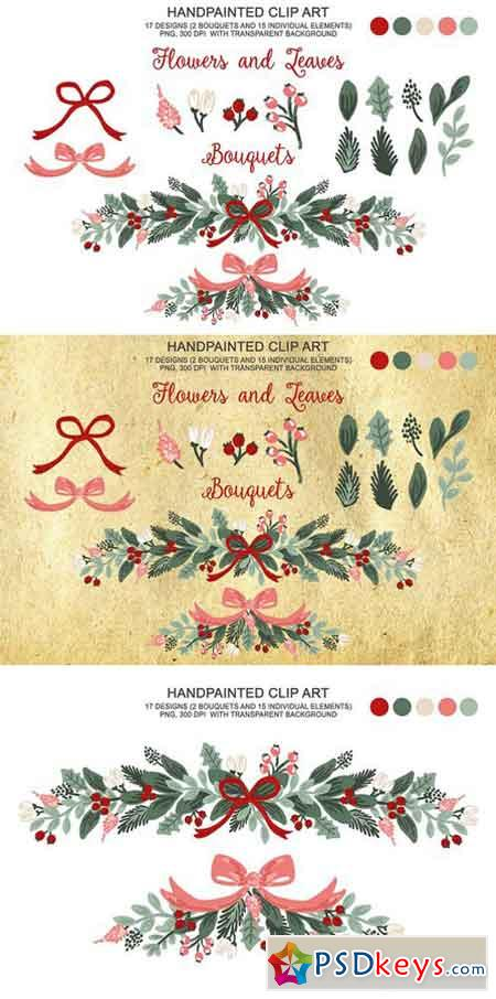 Winter Christmas Botanical Clipart 2072503