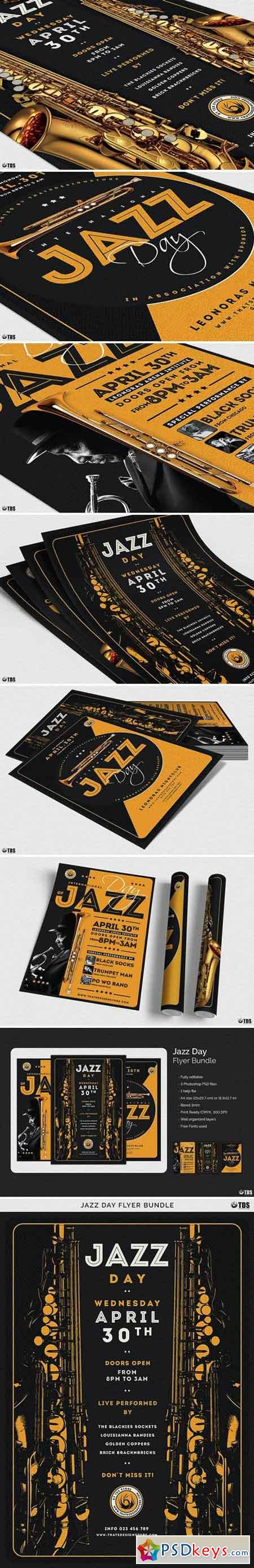 Jazz Day Flyer Bundle 2070204