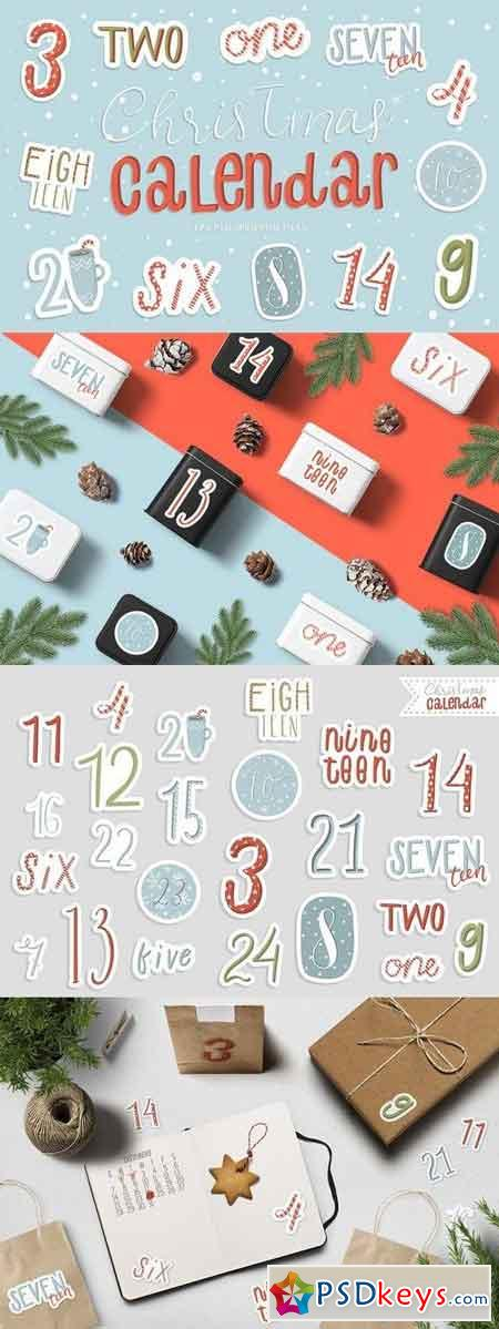 Christmas Advent Calendar Numbers 2017840