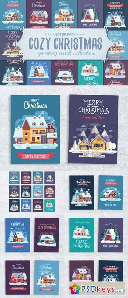 Cozy Winter House Christmas Cards 2077296