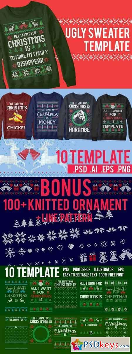 Ugly Sweater Templates 2000928