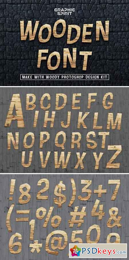 Wooden Font Promo Extended License 1138634