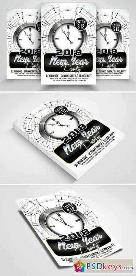 Happy New Year Psd Flyer Templates 2088180