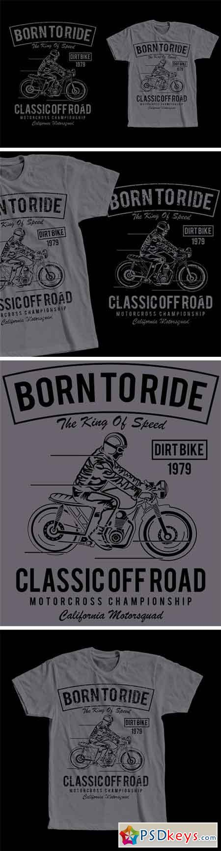 Born To Ride T-Shirt Design 2068327