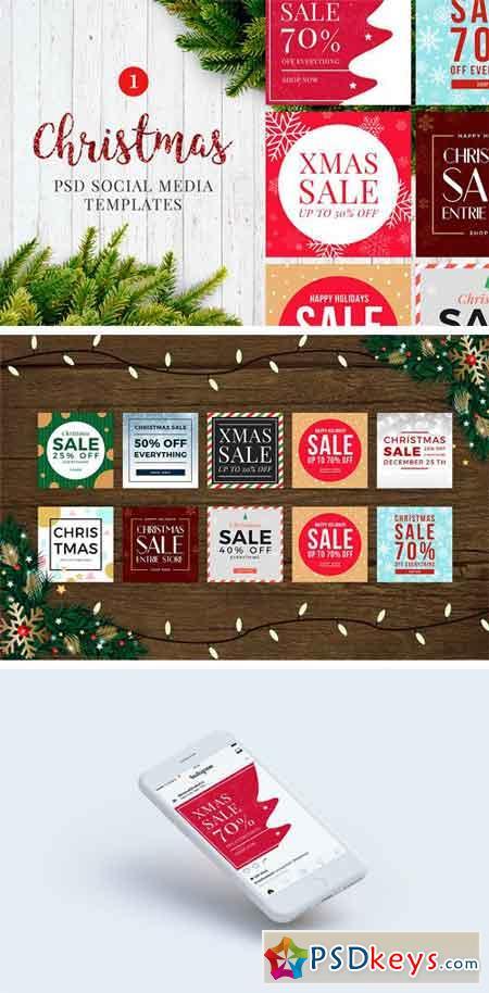 Christmas Social Media Banners V1 2098526