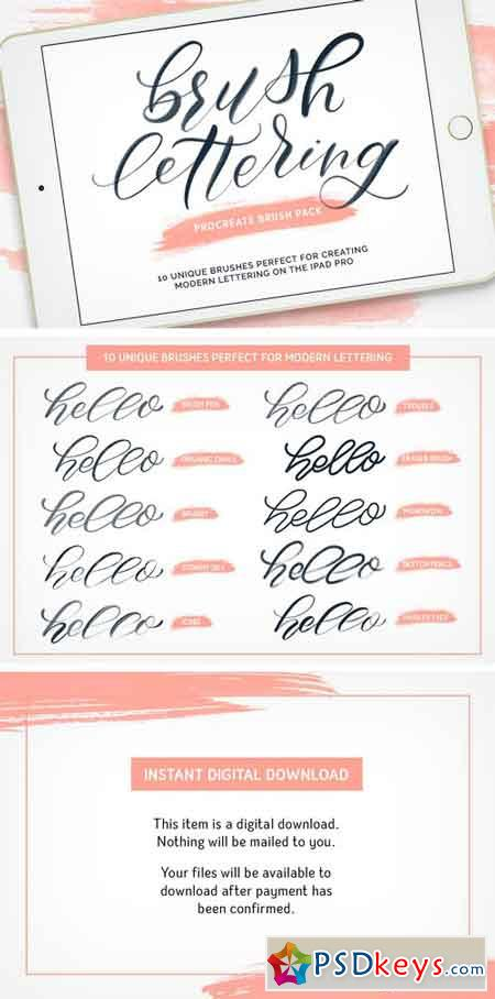 Brush Lettering Procreate Brush Pack 2098834